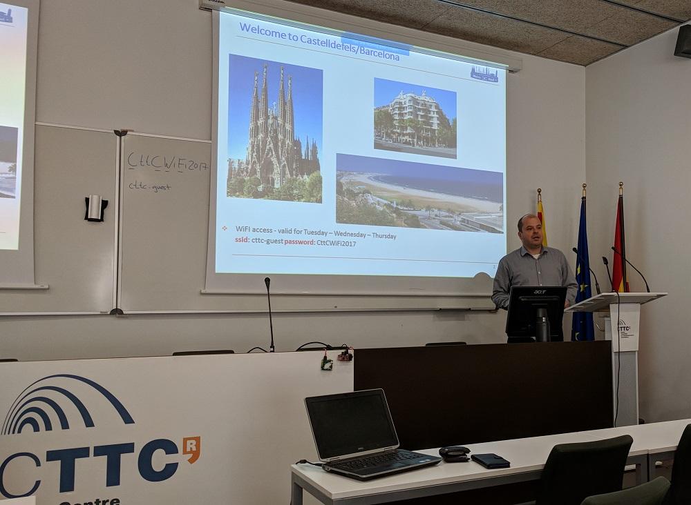 Ramon Casellas from CTTC opening Metro-Haul project plenary